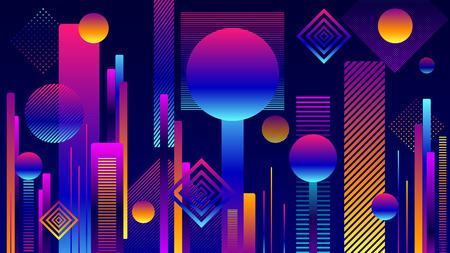 Abstract Futuristic Geometric City Background