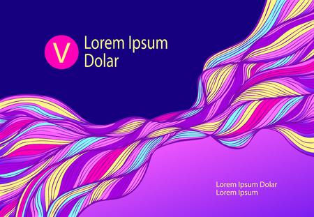 Tonos brillantes coloridos Ilustración de vector