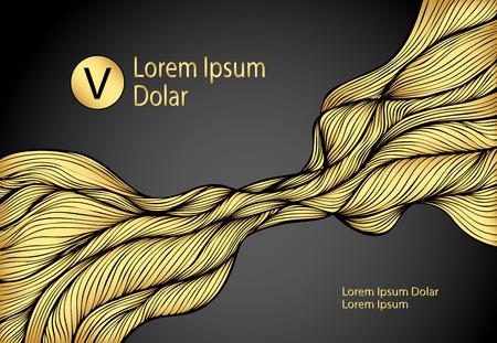 Wavelength pattern in gold black