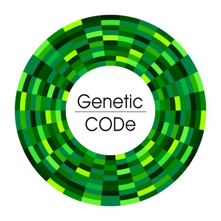 Abstract background for  science medicine  genetic in green