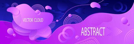 Abstract futuristic background in lilac blue