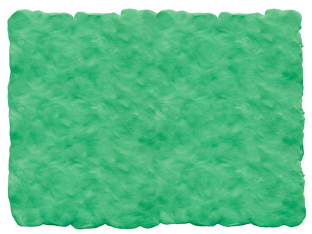 Green background of plasticine. Handmade background for advertising and collages