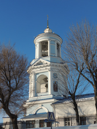 pokrovsky: Bell tower of Pokrovsky Cathedral in Voronezh, Russia