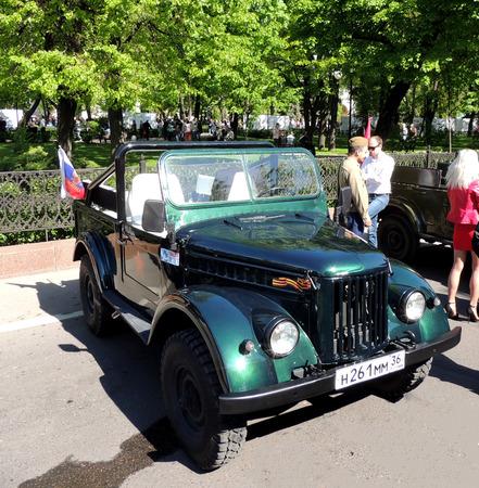 tree dweller: Retro car of soviet military all wheel drive light truck jeep