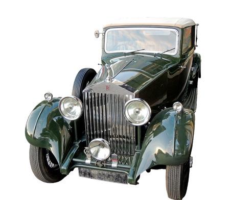 xanadu: Retro car of 1930s Rolls-Royce Phantom Limousine with canvas top