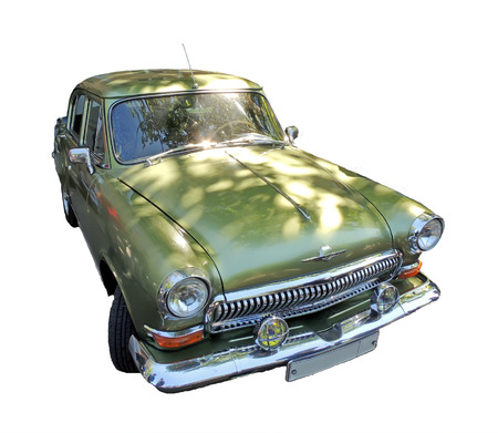 sidelight: Soviet retrocar of 1960s isolated Stock Photo