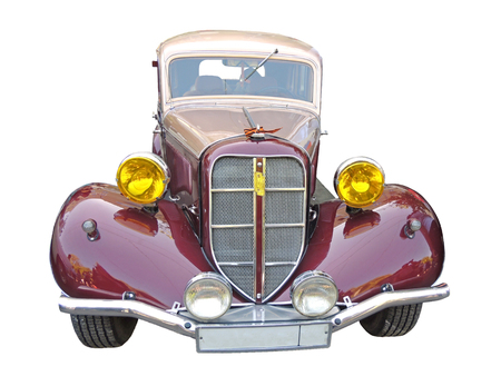 zinnwaldite brown: Front element of the soviet retro front-engine, rear-wheel-drive passenger car of 1930-40s sedan GAZ M1 Emka