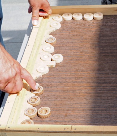 Move in the game of backgammon