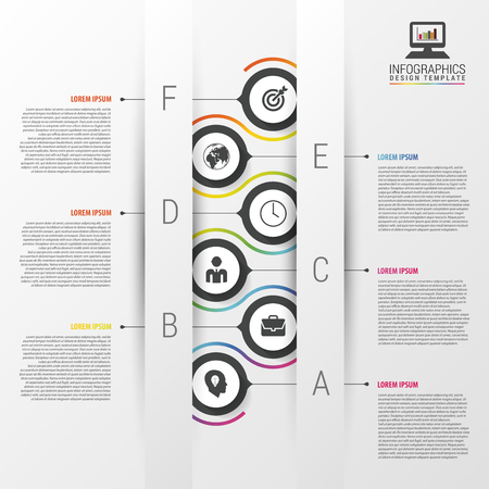 Abstract timeline infographic template. Vector illustration