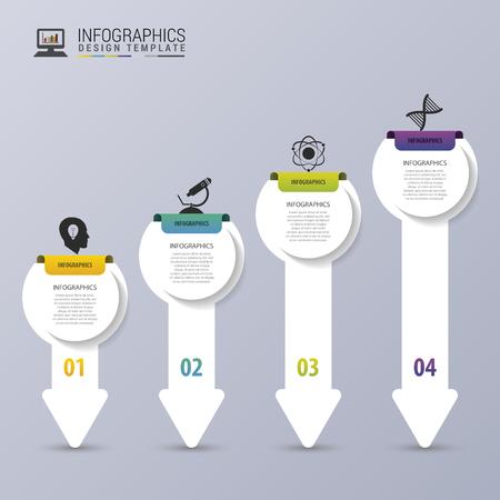 Flèches moderne. Modèle de conception infographique. Chronologie. Vector illustration Banque d'images - 45158041