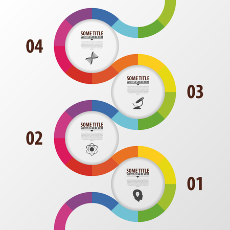 Abstract colorful business path. Timeline infographic template. Vector Imagens - 45338500