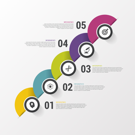 calendar day: Infographic design on the grey background. Modern template. Vector illustration