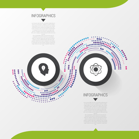 two minds: Modern Infographic Design Template. 2 options abstract concept. Vector illustration