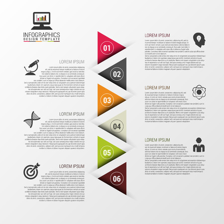 time line: Colorful Infographic Design Template With Triangles. Infographic Concept. Vector illustration