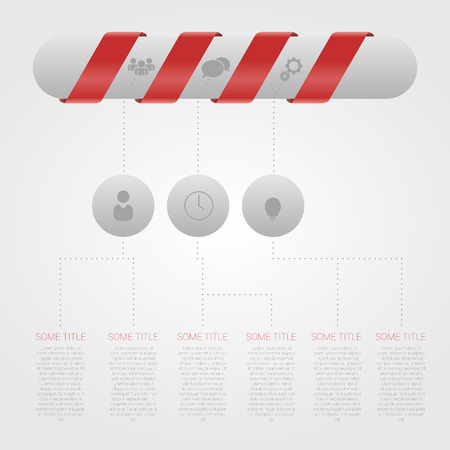 minimal style: Modern Design Minimal style infographic template with pill Illustration