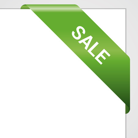 eshop: Green paper tag - Vector sale announcement