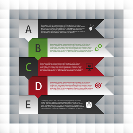 numbers background: Infographics Modern Design template. Square style vector