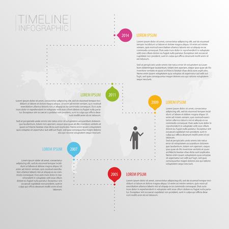 minimalistic: Minimalistic timeline infographics design template