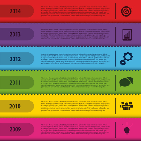 Design bookmark template. Infographics timeline. Vector