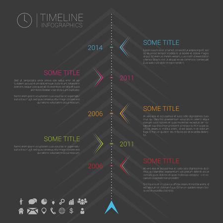 timeless: Modern vector infographic timeline template with icons Illustration