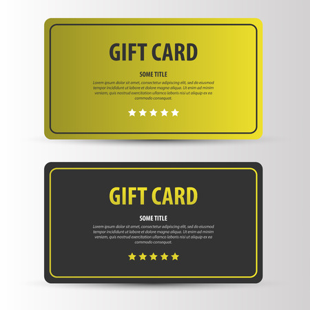 vip beautiful: Exclusive gift card with stars. vector template