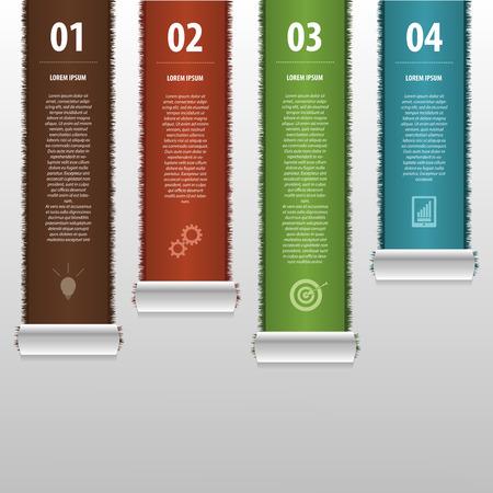 business template: Modern infographics business template. Vector Illustration