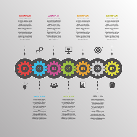 Abstract infographic vector. Business template with gear