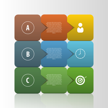 business template: Infographic business template. Squares style Vector