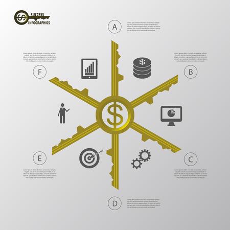 business success concept: Infographic. Business success concept template. vector