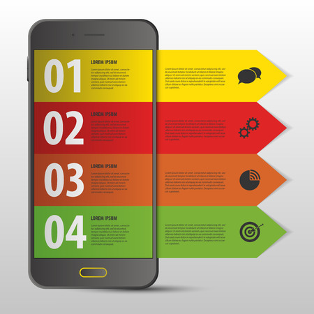 digitally generated image: Mobile Infographic design template. Modern banner. Web. Vector Illustration