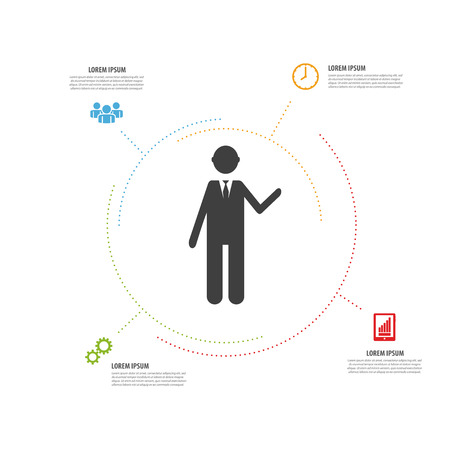 minimalistic: infographic modern design. minimalistic vector with icons Illustration