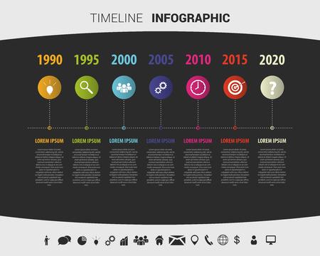 タイムライン インフォ グラフィック デザイン テンプレートです。ベクトル