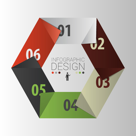 page layout: Hexagon. Presentation infographic design template. Vector