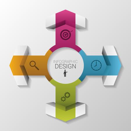 Infographic arrow circle vector concept. Vector