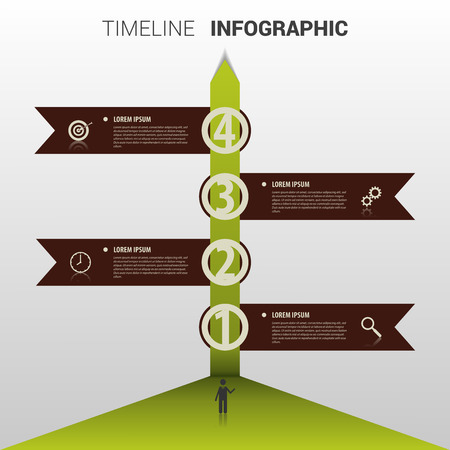 biography: Timeline infographic Element. Template. Vector