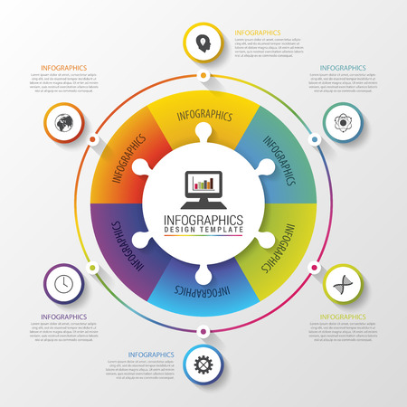 business group: Infographic circle. Modern design template. Colorful concept. Vector illustration