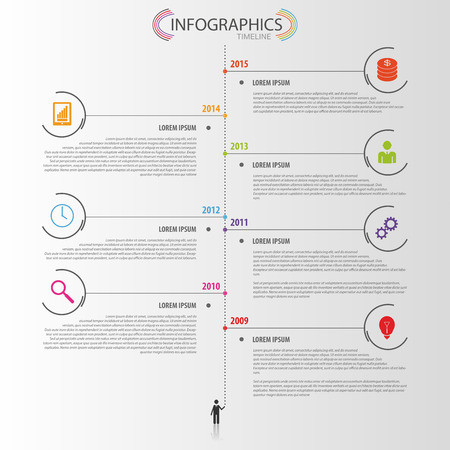 web template: Timeline infographic design template. Vector
