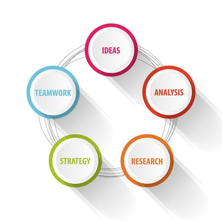 Business concept Infographie. Succès. Vecteur Banque d'images - 45342505