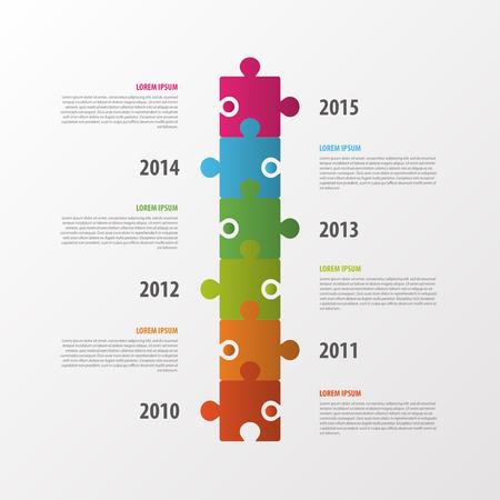 infomation: Modern infographics design. Timeline. Puzzle concept. Vector Illustration