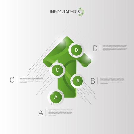 green arrow: Abstract infographic vector. green arrow