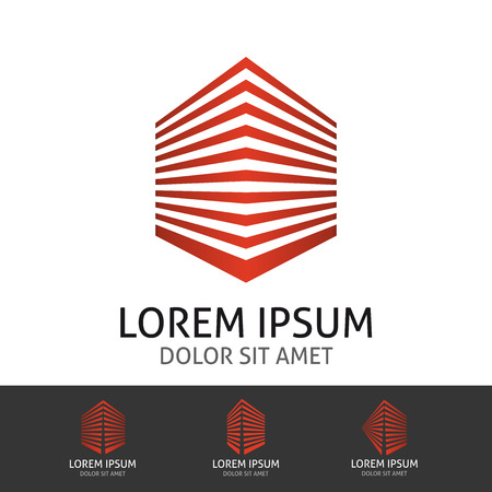 Real estate company concept. Logo design template. Illustration