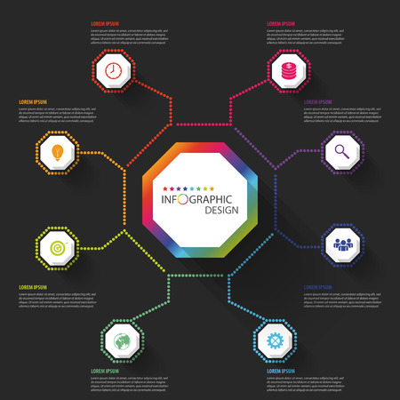 octagon: Modern business Infographics Octagon. Vector illustration