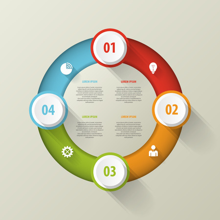business template: Vector circle infographic. Business template