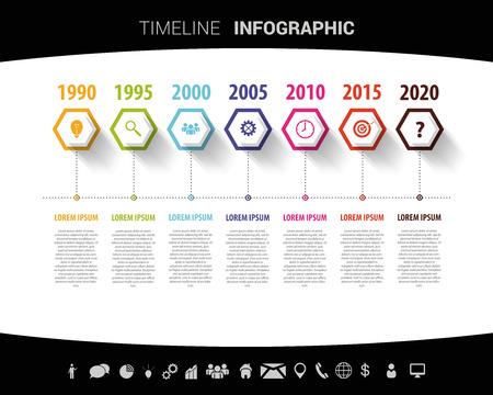 Timeline infographic design template. Vector illustration Illustration