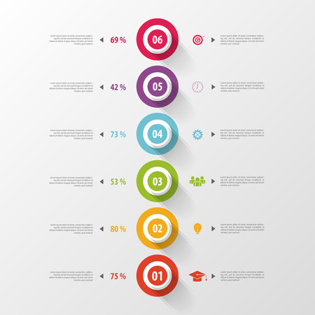 Modern timeline infographics with icons. Vector