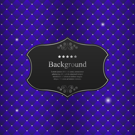 diamonds on black: Vector abstract background with black crest