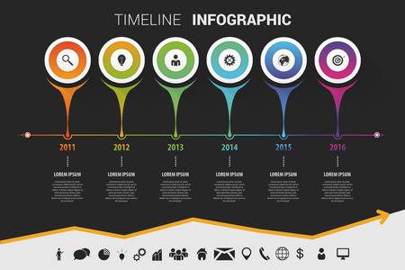 infomation: Timeline infographic modern design. Vector with icons