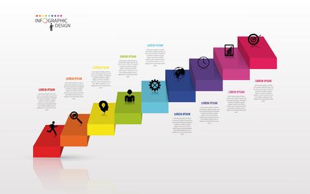 Infographics concetto di scala aziendale, illustrazione vettoriale Archivio Fotografico - 45343756