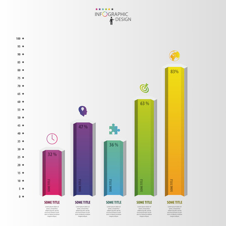 Moderne Design-Box Minimal Art Infografik-Vorlage. Kann Für Diagramm ...