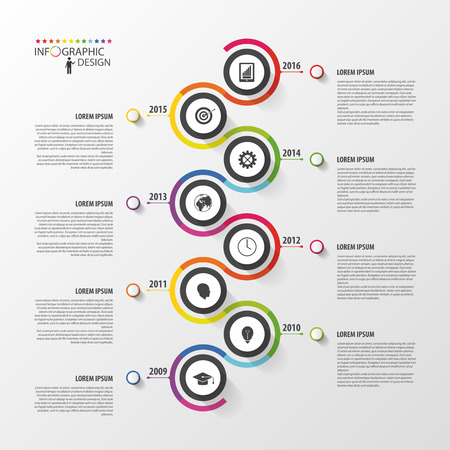 Abstract timeline infographic template. Vector illustration. Zdjęcie Seryjne - 45344017